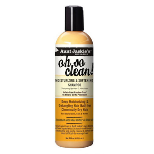 Aunt Jackie's Oh So Clean Moisturizing and Softening Shampoo, 12 oz