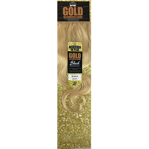 4x4 Body Wave Lace Closure by GOLD BUNDLE BLONDE
