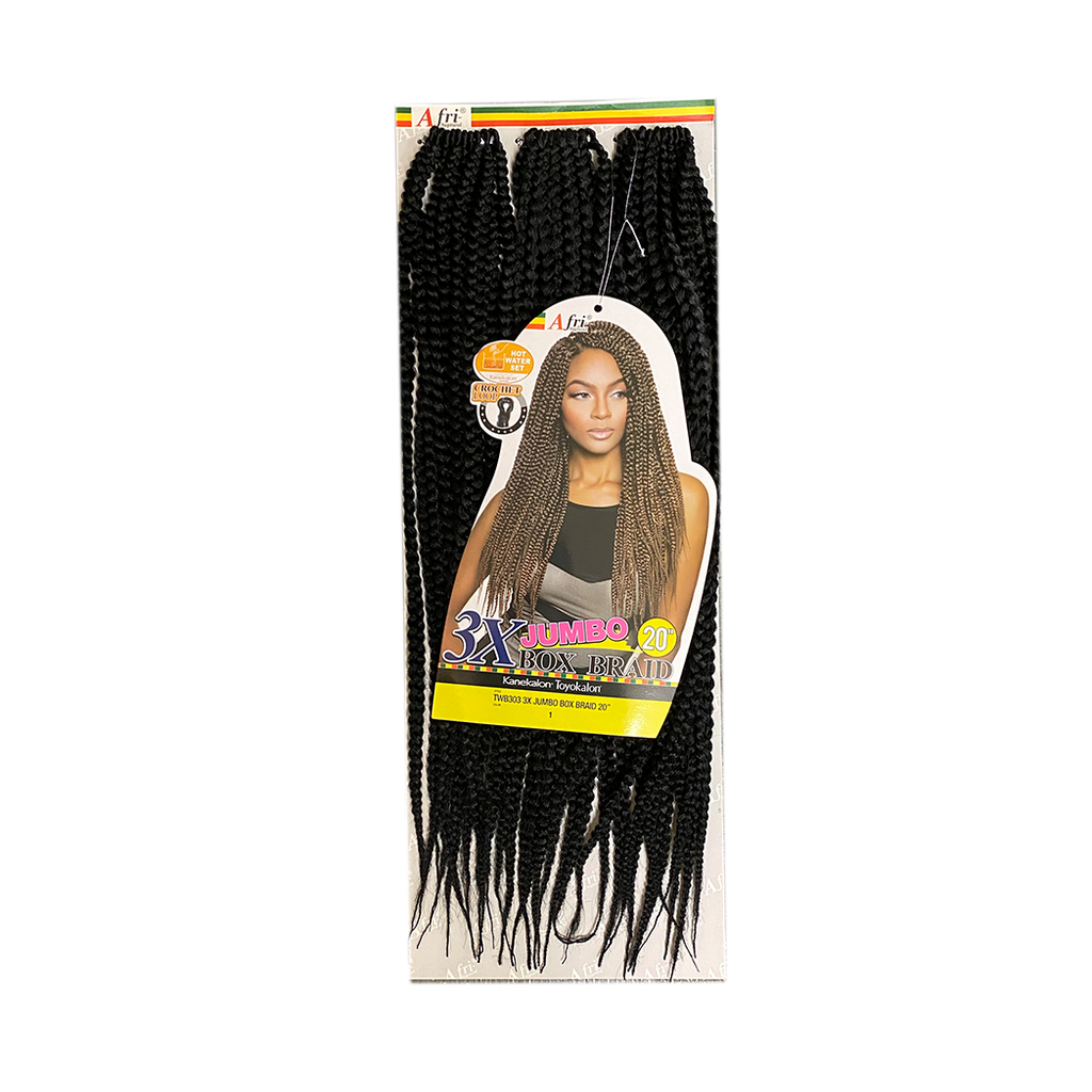 Mane Concept Afri Naptural 3X Jumbo Box Braid Crochet Loop Braid 20 (TWB303)