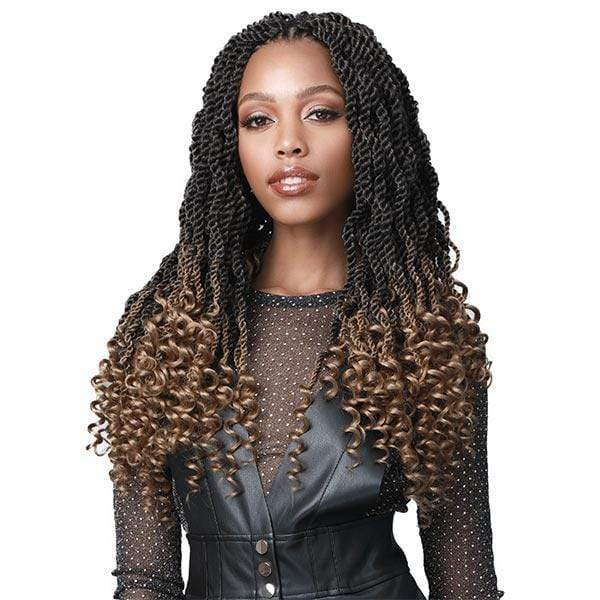 Bobbi Boss Wavy Senegal Twist Curly Tips 2X Braid - 18""