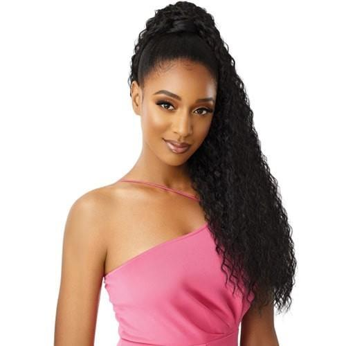 Outre Premium Synthetic Pretty Quick Wrap Around Ponytail Crimp Wave 30