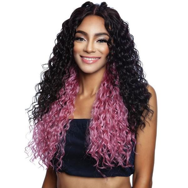 Mane Concept Red Carpet 4×6 Lace Wig – DOUBLE DUTCH BRAID TOP KNOT RCTB202