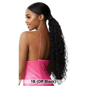 Outre Pretty Quick Pony Ponytail - DEEP WAVE 24