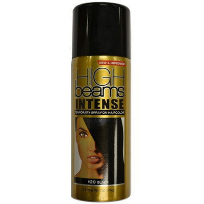 HIGH BEAMS INTENSE TEMPORARY SPRAY-ON HAIRCOLOR 2.7 OZ - #20 BLACK