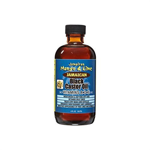 Jamaican Mango & Lime Black Castor Oil Vitamins A,D,E - 4oz
