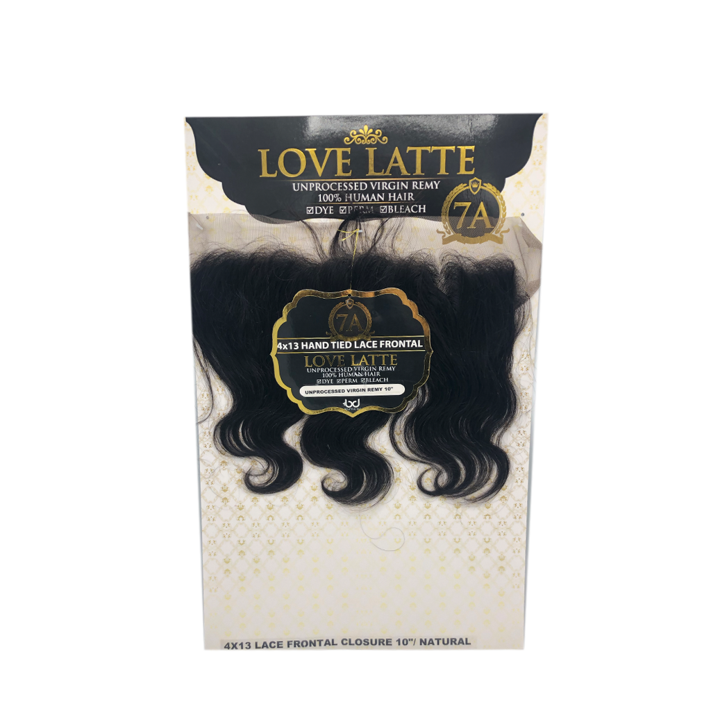"4x13 Hand Tied Lace Frontal 10"" by Love Latte"