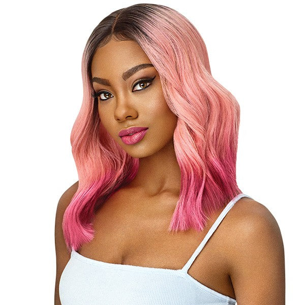 OUTRE SYNTHETIC COLOR BOMB I PART SWISS LACE FRONT WIG - NAHLA