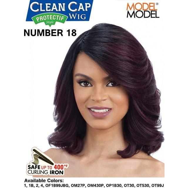 Model Model Premium Clean Cap Wig - NUMBER 18