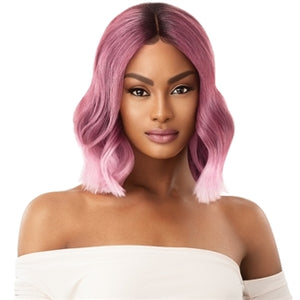 Outre Color Bomb Synthetic Swiss Lace Front Wig - JHALAY