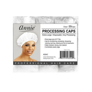 "Annie Processing Caps Coloring Perm Shower Treatment Vinyl Large Clear 21"" #3542"