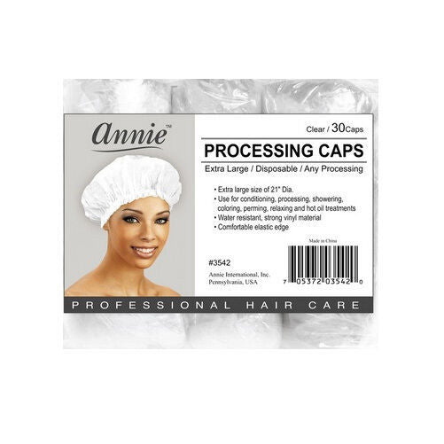 Annie Processing Caps Coloring Perm Shower Treatment Vinyl Large Clear 21