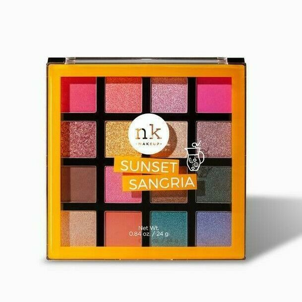 Nicka K Sixteen Color Palette Eye Shadow Makeup Warm Cool Long-Lasting Pigment