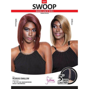Mane Concept Red Carpet Swoop Bang Lace Front Wig - SWALLOW(RCSB203)