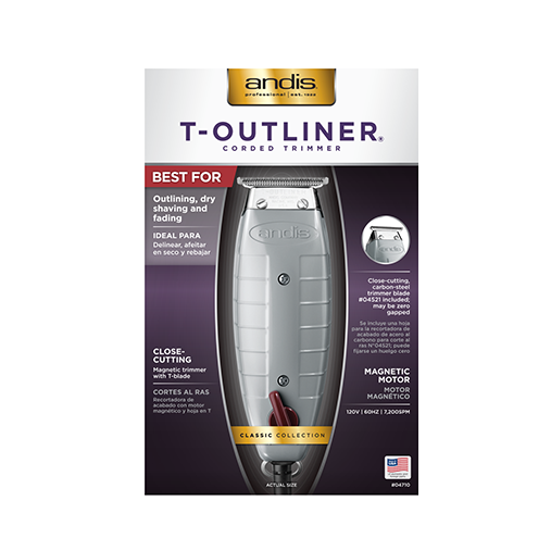 Andis T-Outliner Trimmer with T-Blade, Gray