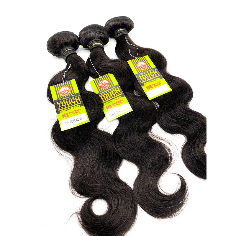 10A 100% Human - TOUCH BUNDLES - BODY WAVE SET