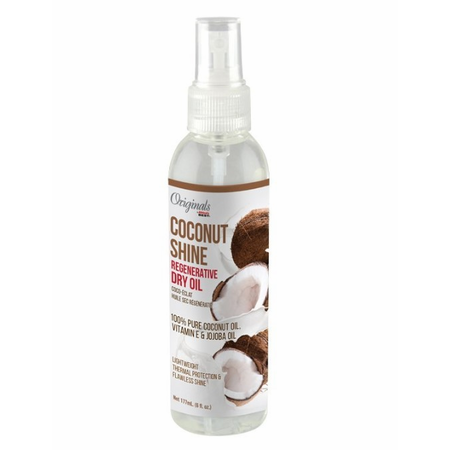 Africa's Best Originals Coconut Creme Shine Regenerative Dry Oil 6 oz