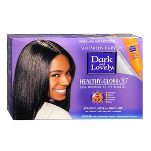 Dark and Lovely Relaxer, Shea Moisture, Healthy-Gloss (5), 1 App Regular or Super