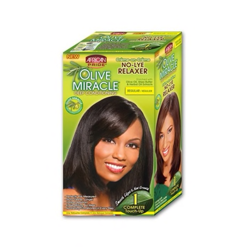 African Pride Olive Miracle No-Lye Relaxer 1 Complete Touch up - Regular or Super