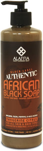 Black Label Authentic African Black Soap - Tangerine Citrus