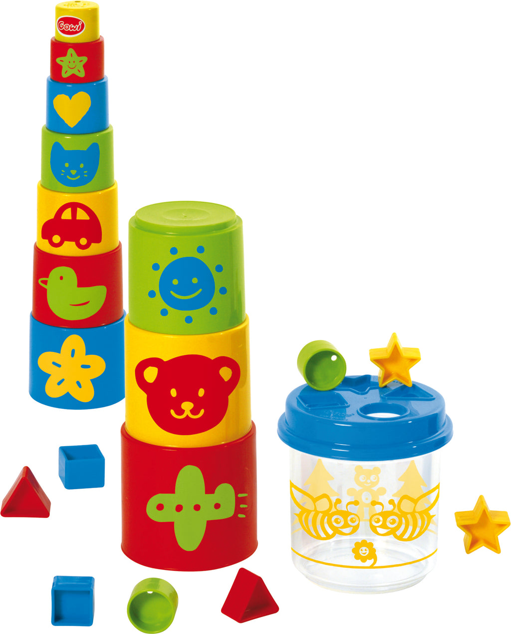 Gowi Pyramid & Shape Sorter Box