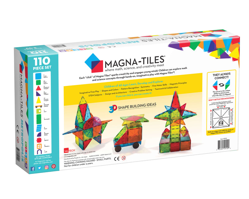 Magna Tiles 110- Piece Metropolis Set