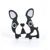 Loulou Lollipop Boston Terrier Teether with Clip