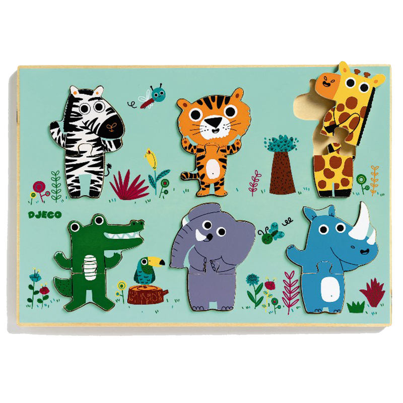 Djeco Coucou Wooden Two piece Puzzles