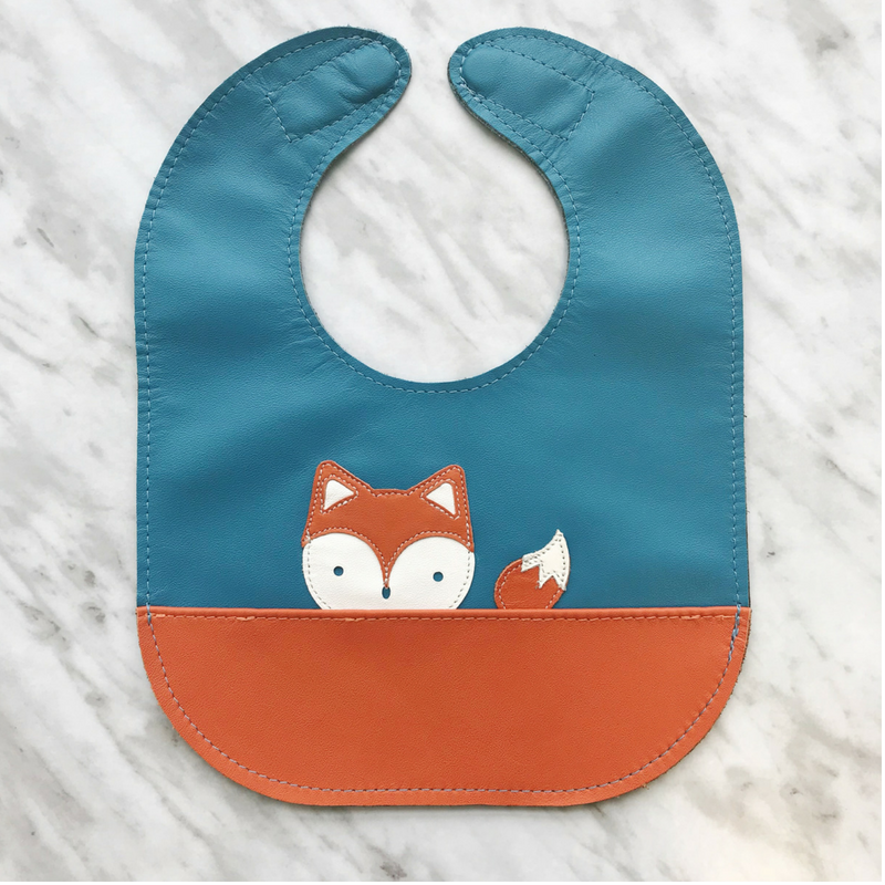 Mally Leather Toddler Bibs