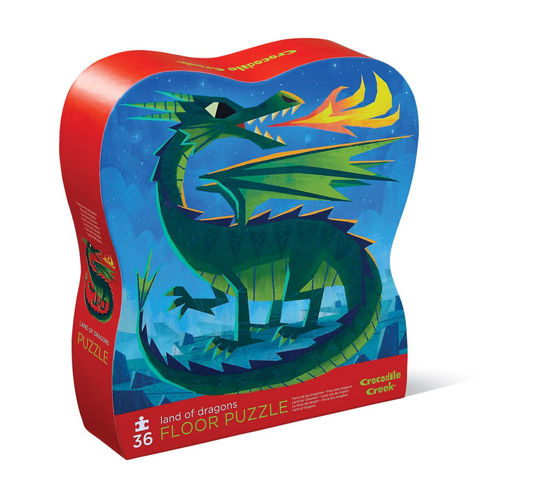 Crocodile Creek Shaped Box Puzzles, 32/36 pcs