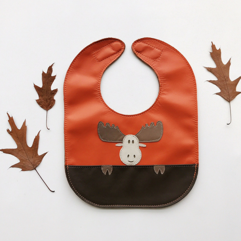 Mally Leather Baby Bibs