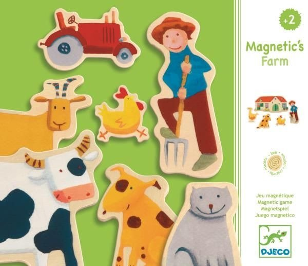 Djeco Animal Magnetic's Wooden Fridge Magnets