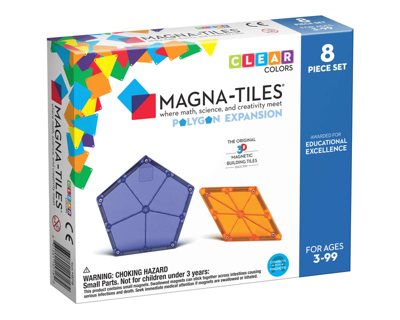 Magna Tiles 8-Piece Polygon Expansion Pack