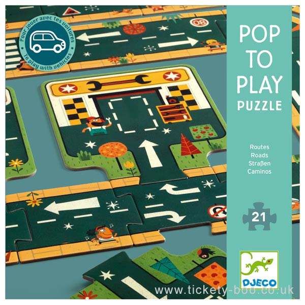 Djeco Pop to Play Puzzle: Roads!