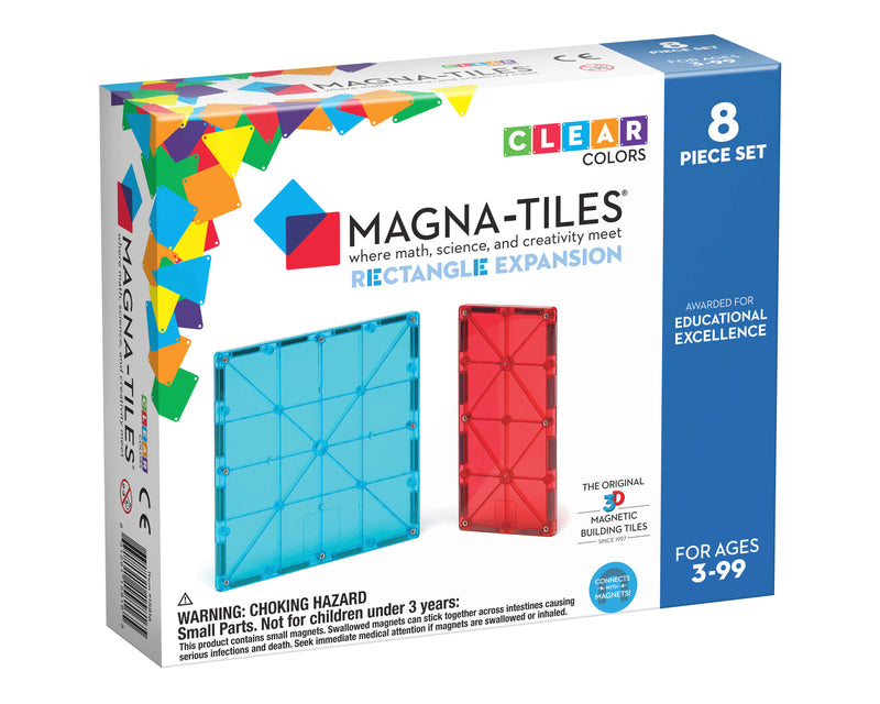 Magna Tiles 8-Piece Rectangle Expansion Pack