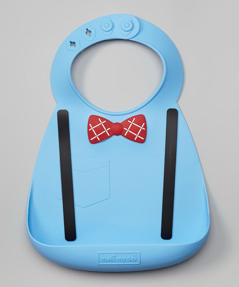 'Make My Day' Silicon Baby/Toddler Bibs with Crumb Catcher