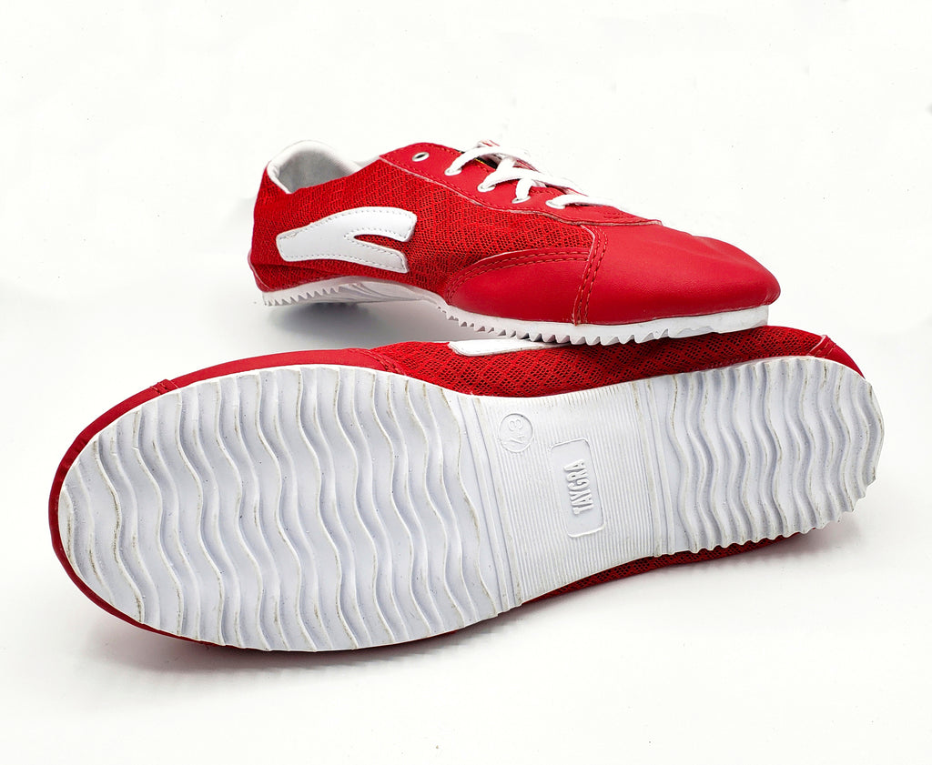 Red & White Slim Nylon Taygra