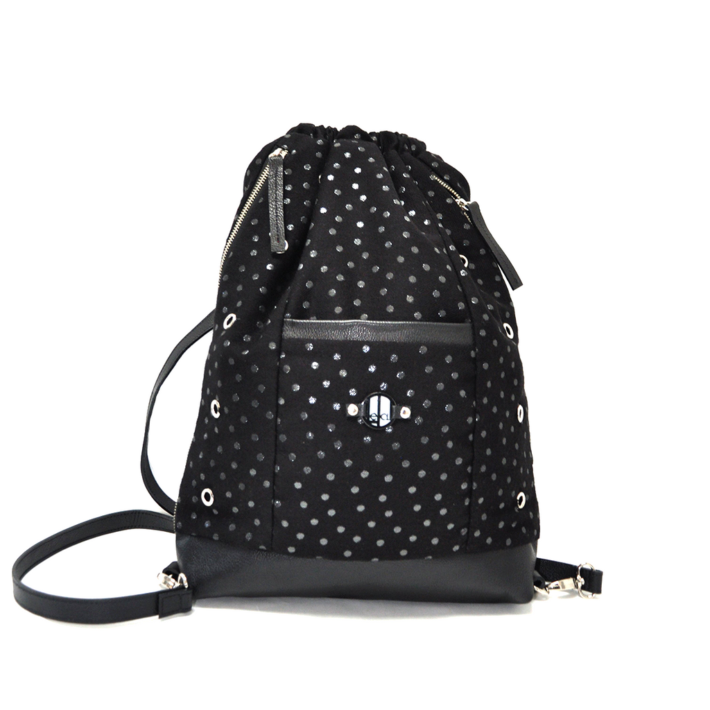 Black with Silver Dots LeDal Bag