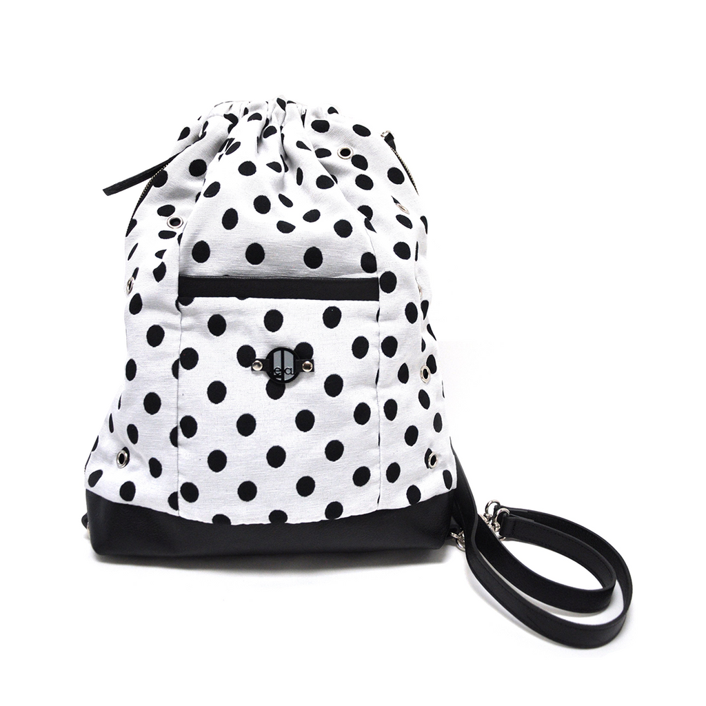 White with Black Polka Dots LeDal Bag