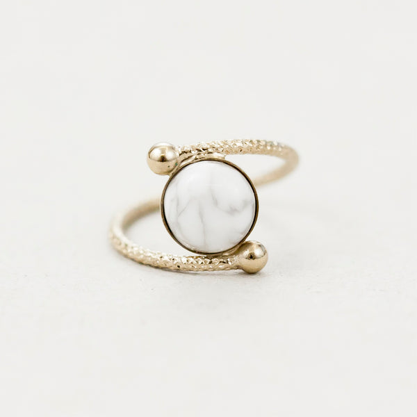 "Bague demi-sphère  / Ring  ""Ushas, goddess of dawn who illuminates the world with truth."""