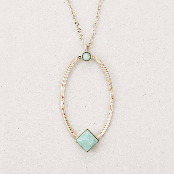 "Collier ""Hemera, goddess of light who reveals the higher sky"""