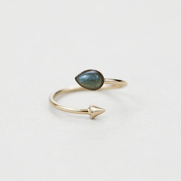 "Bague goutte  / Ring  ""Hemera, goddess of light who reveals the higher sky"""