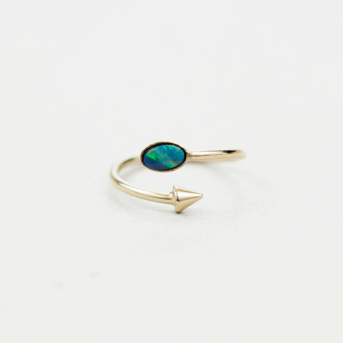 "Bague oval  / Ring  ""Hemera, goddess of light who reveals the higher sky"""
