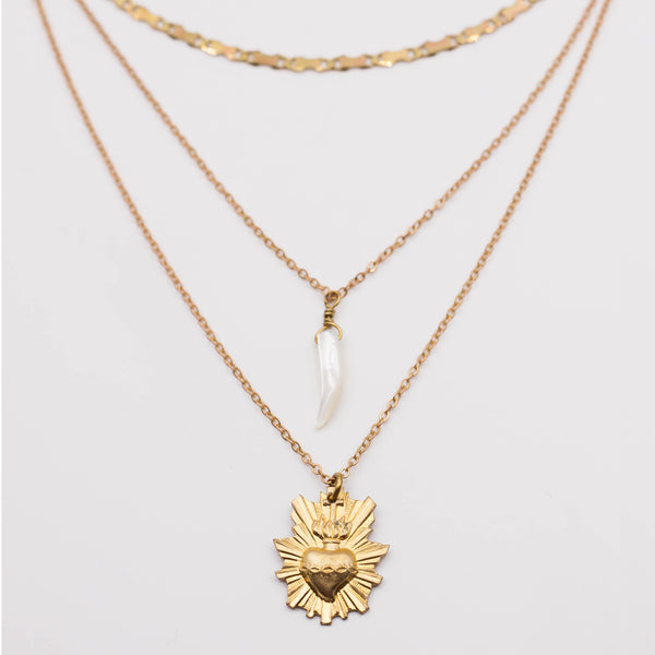 "Collier coeur ardent ""Turan, the sacred love goddess"""