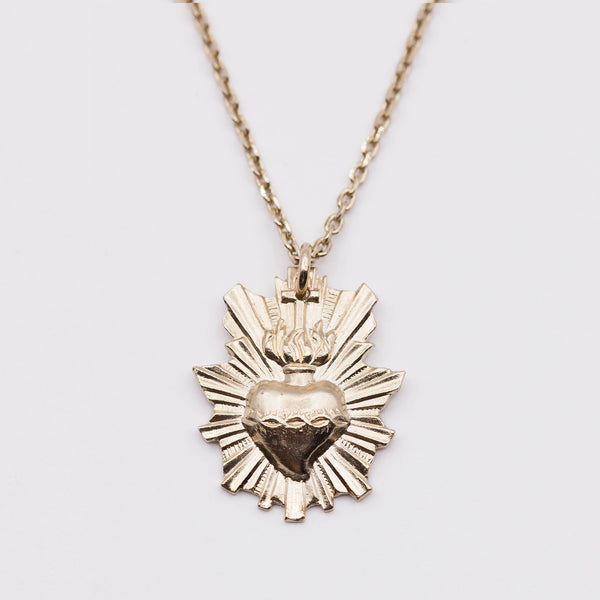"Collier court coeur ardent / Necklace ""Turan, the sacred love goddess"""