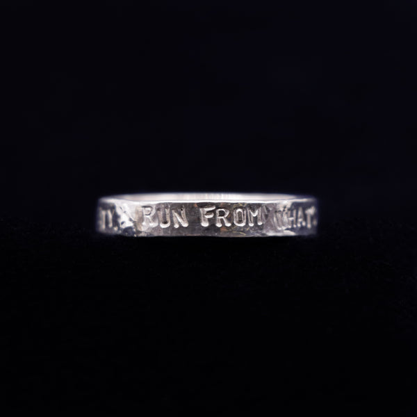 "Bague Homme Rumi ""Run from what's comfortable."""