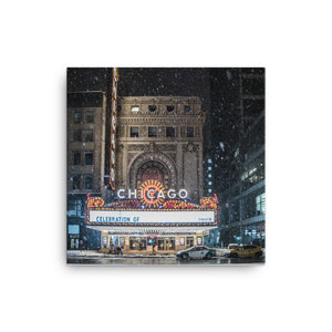 Chicago Theater in Winter | Chicago Photography 12x16