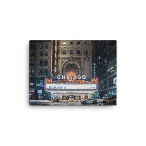 Chicago Theater in Winter | Chicago Photography 12x12