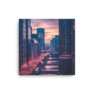 Sunset Over Marina City | Chicago Photography 12x12