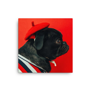 Frenchie in Red