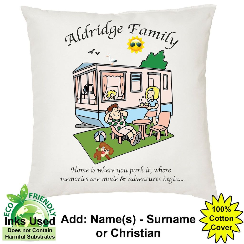 Family Caravan Cushion